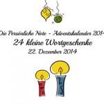 Die Persönliche Note - Adventskalender 2014