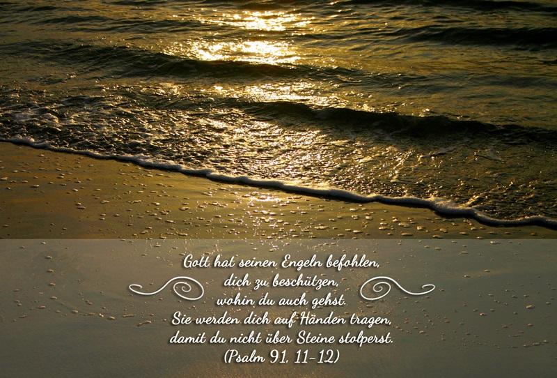 Bibelvers : kostenloser Download (Psalm 91, 11-12)