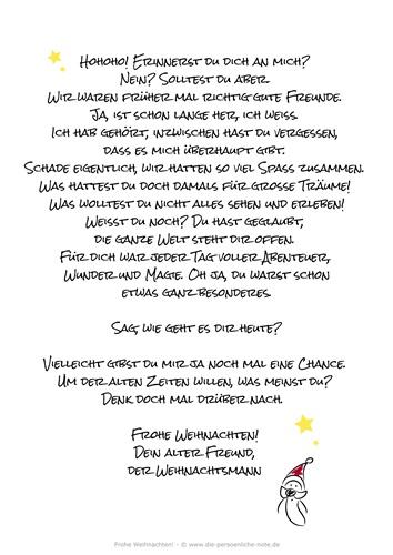 Originell und humorvoll: Weihnachtsmannbrief für Erwachsene