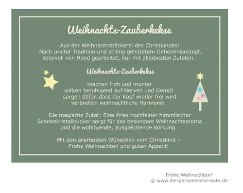 Freebie/Download: Weihnachtszauberkekse (Geschenkanhänger)