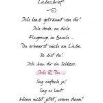 Freebie/Druckvorlage: Origineller Liebesbrief